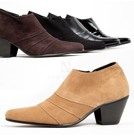 Triple Lined High Heel Short Ankle Boots 430