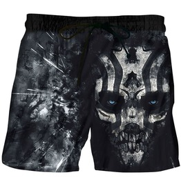 Gothic Black Skull Of Death Board Shorts