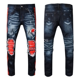 Distressed Destroyed Ripped Biker Men's Jeans Up To 42