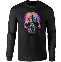 Neon Melting Skulls Long Sleeve T Shirt