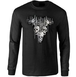 Hanging Skulls Long Sleeve T Shirt