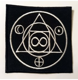 Esoteric, Occult Symbol Variation 93 Embroidered Patch, 3,2 X 3,2 Inch