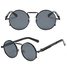 Steampunk Retro Rimless Round Sunglasses