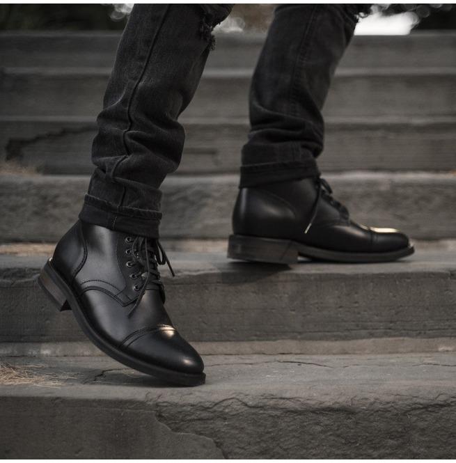 Men Black Ankle Leather Boots Men Leather Boots Men Rebelsmarket