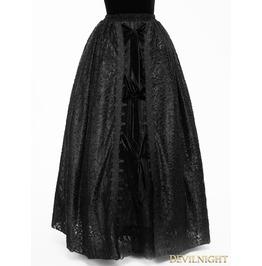 Black Gothic Lace Long Ball Skirt Eskt014