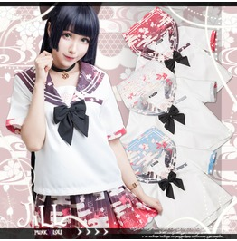 Lolita Kawaii Anime Sakura Mist Rain Ukiyoe Sailor Collar Uniform Jj2185