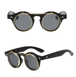 4ea74812510 Steampunk Funky Flip Up Retro Sunglasses