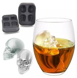 3 D Skull Ice Cube Molds