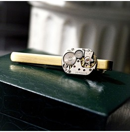 Steampunk Jewelry Mens Tie Clip Accessories Anniversary Gift For Him Man