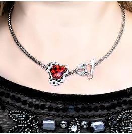 Submissive Day Collar Bdsm Chain Necklace Lock Heart Pendant Dominant Slave