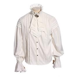Vintage Dress Shirt With Jabot Spm003