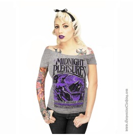 Midnight Pleasures Women's Off Shoulder Tee