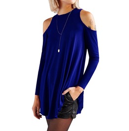 Trendy Women's Off Shoulder Tunic Long Blouse