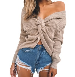 Chic Women's Knitted Versatile Twisted Sweater