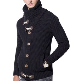 Men's Loose Fit Knitted Cardigan