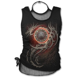 Dragon Eye 2in1 Neck Tie Mesh Top Black