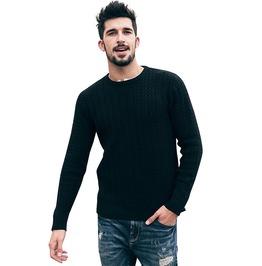 Modern Men's Pullover Knitted Long Sleeve Sweater