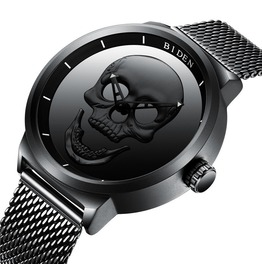 Men Unique Design Skull Watch