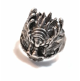 Striking! Old Worn Tibetan Silver Vintage Chinese Dragon Ring Small Size 8