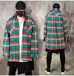 be06a13d63a Checkered Loose Wool Shirts 223