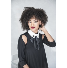 White Collar, Elegant Collar, Eco Leather Collar, Fashion Collar