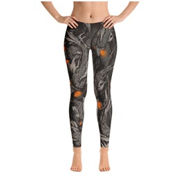 Orange Eyed Aquatic Bots Leggings (Robot Fish)
