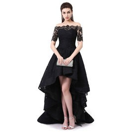 Prom Black Lace Graduation Dress