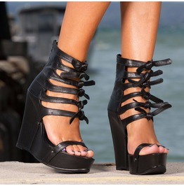 Extravagant Sexy Must Have Wedges/Woman Genuine Leather Platform Sandals/Sexy Platform Shoes