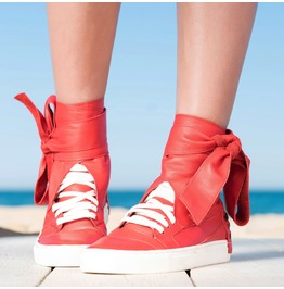 Extravagant Red Must Have Sneakers/Red Genuine Leather Sneakers