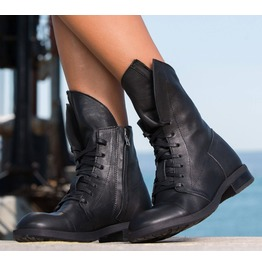 Extravagant Must Have Woman Cubes/Black Genuine Leather Woman Boots