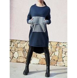 Long Asymmetric Woman Sweatshirt/Woman Cozy Sweatshirt/Long Asymmetric Woman Hooded