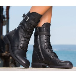 Woman Genuine Leather Casual Boots/Black Casual Boots