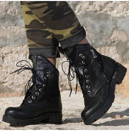 New Collection/ Black Genuine Leather Woman Boots/Comfortable Winter Boots