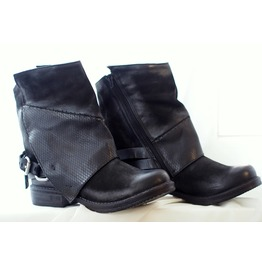 New Collection/Black Genuine Leather Boots/Designer Genuine Leather Boots/Unique Woman Boots