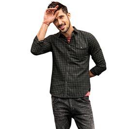 Streetwear Men's Plaid Long Sleeve Shirt