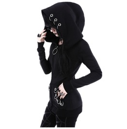 Ring Me Goth Hoodie Womens Sweater Top