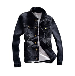 Black Denim Men's Jacket Up To 5 Xl