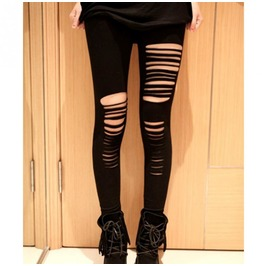 Punk Hole Ripped Leggings