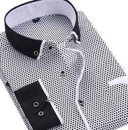 Modern Business Men's Long Sleeve Shirt