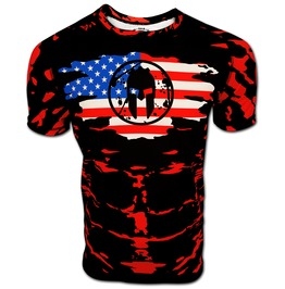 Spartan Usa T Shirt 2018 Mud Sprint Obstacle Race Crossfit Run Fitness Top