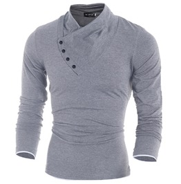 Streetstyle Men's Button Collar Shirt