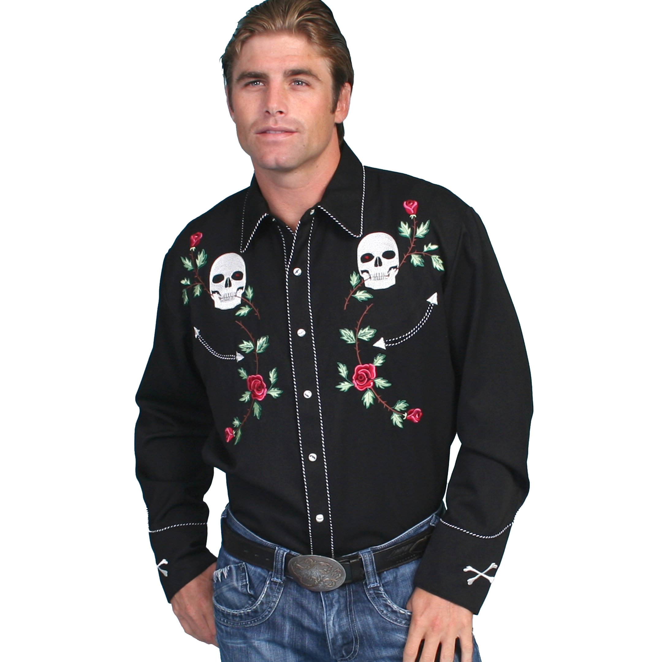 rebelsmarket_scully_western_skull_and_floral_embroidery_black_cowboy_pearl_snap_shirt_shirts_2.jpg
