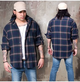 Classic Checkered Loose Shirts 229