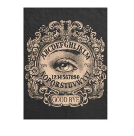 Ouija Board Mystic Eye Black Blanket