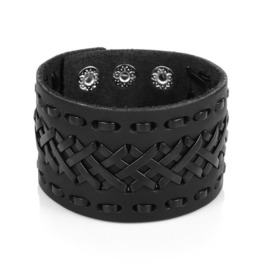 Genuine Leather Handmade Mens Thick Bracelet Jewelry