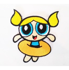 Bubbles In Powerpuff Girls Cartoon Embroidered Iron On Patch.