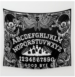 Ouija Board Black Tapestry