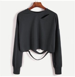 Crop Top Long Sleeve Sweatshirt