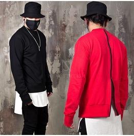 Contrast Back Zipper Sweatshirts 231