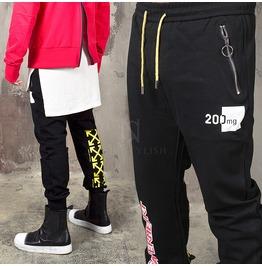 Multiple Accent Black Sweatpants 285